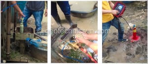 Lắp đặt thiết bị đo áp lực nước lỗ rỗng piezometer