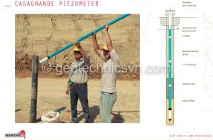 Piezometer Casagrande - Thiết bị quan trắc thấm