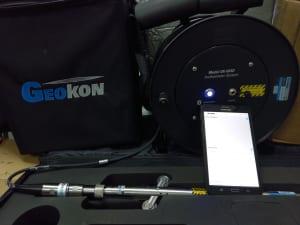 Bộ ghi đo chuyển vị ngang Inclinometer GK-604D kèm theo máy tính bảng cài sẵn ứng dụng