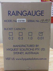 Vỏ hộp bảo vệ thiết bị đo mưa CS700