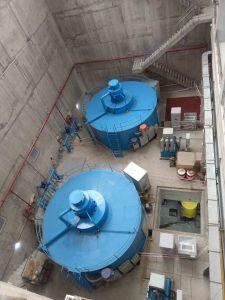 Hai turbine phát điện của nhà máy thuỷ điện Pake