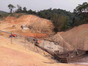 Toàn cảnh công trường dự án mở rộng lưu vực bổ sung nước cho công trình thuỷ lợi, thuỷ điện Quảng Trị