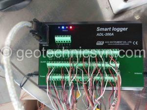 Đấu nối các thiết bị đo ứng suất cốt thép vào Smart Logger 16 kênh