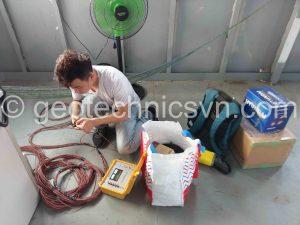 Kiểm tra thiết bị đo ứng suất cốt thép bằng máy đọc xách tay