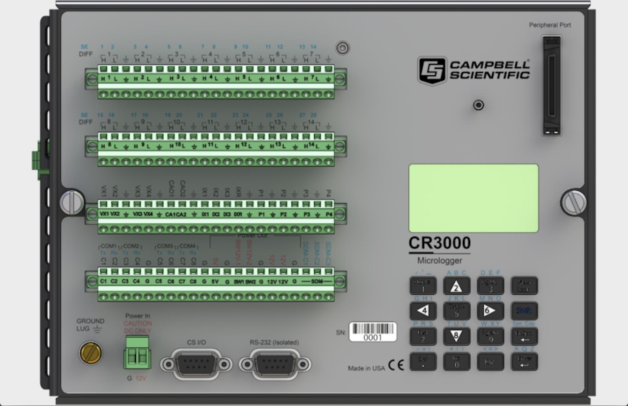 Bộ ghi đo tự động Datalogger CR3000