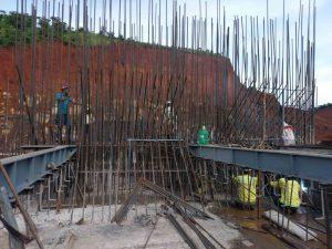 Trên công trường thuỷ điện Tân Lộc