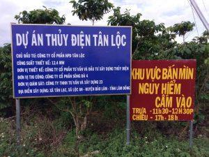 Đường vào dự án thuỷ điện Tân Lộc
