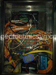 Tủ điện chứa hệ thống Datalogger và tập trung dây cáp tín hiệu