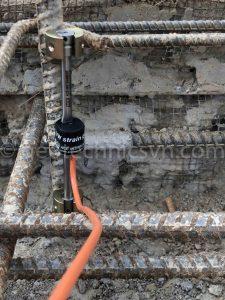 Lắp đặt thiết bị quan trắc ứng suất cốt thép Weldable Strain Gage
