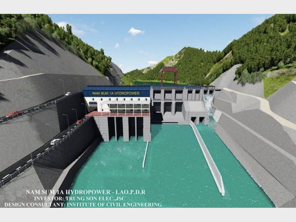 Phối cảnh nhà máy thuỷ điện Nam Sum 1A