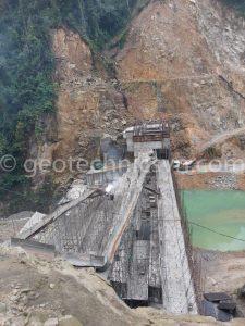 Công trường xây dựng thuỷ điện Nậm Xí Lùng 1 - Lai Châu