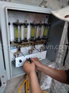 Kiểm tra hệ thống đo lún tại đập Kanak