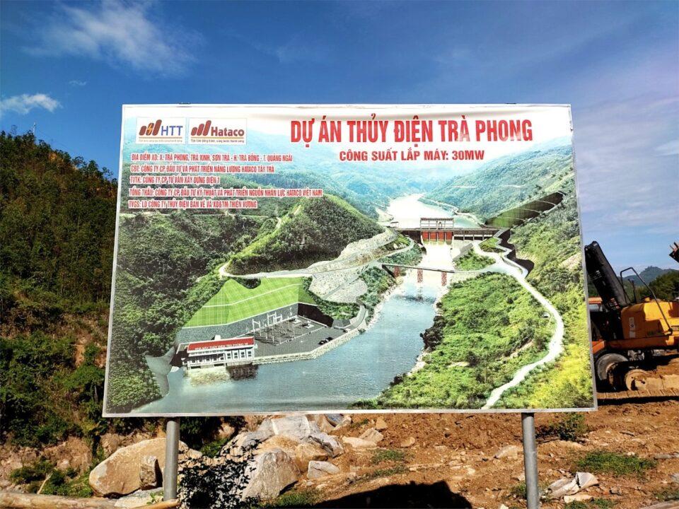 Dự án thuỷ điện Trà Phong 1B